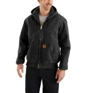 NWT Carhartt Black Sandstone Quilted Flannel-Lined